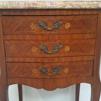 Beautiful Kingwood Bedside Cabinets with Marble Tops (5 of 7)