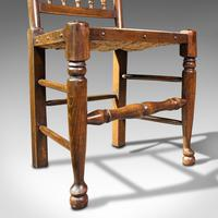 Set of 12, Antique Lancashire Chairs, Beech, Spindle Back, Seat, Edwardian, 1910 (12 of 12)