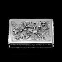 Rare Antique Georgian Solid Silver Mazeppa Snuff Box - Edward Smith 1836 (3 of 23)