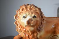 Large 19th Century Staffordshire Pottery Lions (6 of 10)