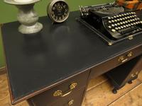Antique Black Painted Writing Desk, Gothic Shabby Chic (3 of 18)