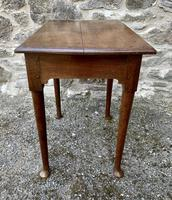 18th Century Georgian Oak Pad Foot Side Table (6 of 15)