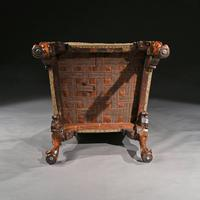 Mid 18th Century George II Walnut Library Open Armchair of Grande Scale (8 of 9)