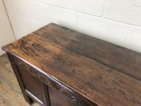 Antique Carved Oak Coffer (6 of 13)