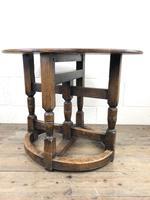Unusual Antique Oak Oval Top Table (4 of 12)