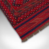 Long Antique Meshwari Runner, Persian, Wool, Kilim, Hallway, Carpet c.1900 (6 of 12)