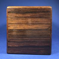 Victorian Single Lidded Rosewood Tea Caddy (13 of 13)