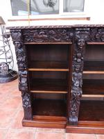 Oak Edwards & Roberts Breakfront Bookcase 7ft 6 Length 4 Drawer (10 of 15)