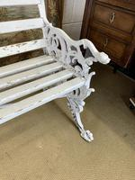 Large White Cast Iron Garden Bench (5 of 6)