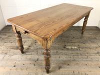 Victorian Antique Pine Farmhouse Kitchen Table (2 of 15)