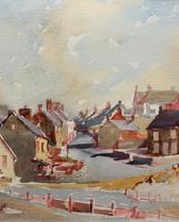 Original Vintage North Wales Coastal Village Landscape Watercolour Painting (6 of 12)