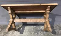 Small French Oak Farmhouse Kitchen Dining Table (6 of 11)