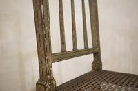 Charming Near Pair of Regency Green Painted Occasional / Elbow Chairs (6 of 14)