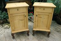 Beautiful & Unusual Old Pine Bedside Cabinets / Cupboards - We Deliver! (2 of 10)
