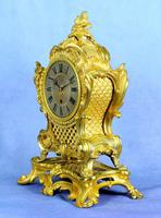 Fine English Ormolu Fusee Mantle Clock - Webster of London (4 of 9)
