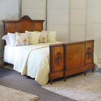 French Mahogany King Size Antique Bed