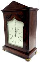 Unusual & Rare Mahogany Bracket Clock Taj Mahal Bezel & Dial Mantel Clock (9 of 10)