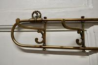 Nautical Brass Folding Coat Hook Rack from a Yacht (9 of 9)