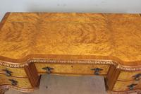 Antique Serpentine Shaped Burr Walnut Side Table (10 of 13)