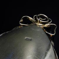Antique Georgian Pearl Large Navette Silver Gilt Gold Locket Pendant (11 of 11)