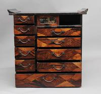 19th Century Japanese parquetry and lacquered cabinet (5 of 11)