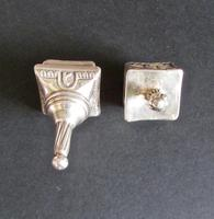 Two Sterling Silver Jewish Spinning Tops, Children's Game (3 of 3)