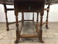 Early 20th Century Antique Oak Gateleg Dining Table (4 of 13)