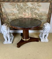 19th Century Marble Top Centre Table with Ormolu Band (6 of 6)