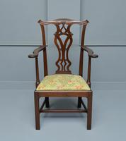 Elegant Chippendale Revival Mahogany Elbow Chair (13 of 13)