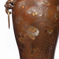 Pair of Large Meiji Period Bronze Vases (3 of 9)