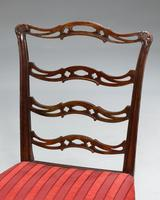 Pair of  Chippendale Period Ladderback Side Chairs (4 of 6)
