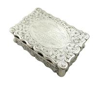 Antique Victorian Sterling Silver Snuff Box 1852 (11 of 11)