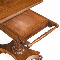 Companion Pair of William IV Flame Mahogany Card Tables (8 of 13)