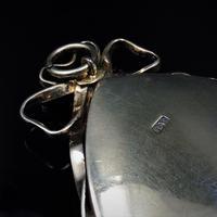 Antique Georgian Pearl Large Navette Silver Gilt Gold Locket Pendant (10 of 11)