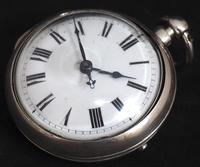 Superb Antique Silver Pair Case Pocket Watch Fusee Verge Escapement Key Wind Enamel Dial Johnson London (6 of 8)