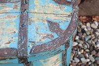 Scandinavian / Swedish 'Folk Art' Travel chest in blue paint and ironwork, 18th Century (34 of 37)