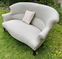 French Two Seater Sofa in Linen (8 of 8)