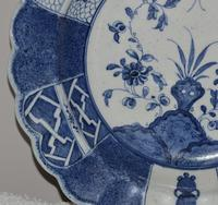 A Rare and Attractive c1775 Worcester Dessert Dish in the 'Flaming Rock' Pattern (8 of 11)