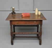 Late 17th Century Bobbin Turned Oak Side Table