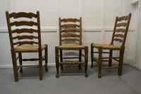 Good Set of 6 Farmhouse Ladder Back Dining Chairs (4 of 6)