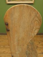 Antique Elm Tavern Bench Settle, Rustic Hall Seat (18 of 19)