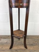 Antique Oak Coopered Jardinière Stand by Lister & Co (7 of 7)