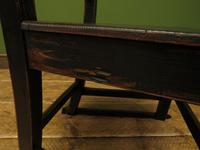 Small Antique Wooden Black Painted Chair, Gothic Shabby Chic (8 of 13)