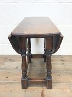 Small Antique Oak Drop Leaf Table (7 of 8)