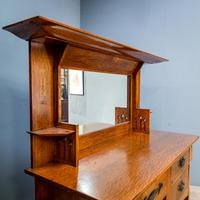 Arts & Crafts Mirror Backed Sideboard (3 of 14)