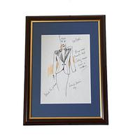 Set of 9 Original Drawings by Ian Thomas - Dressmaker for the Royal Family (3 of 9)