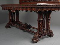 Carved Oak Serving Table Attributed to Pugin (11 of 17)