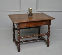 17th Century Bobbin Turned Oak Side Table (9 of 12)