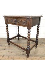Antique Oak Carved Green Man Side Table (9 of 10)