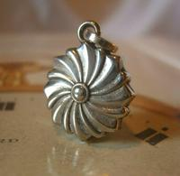 Antique Pocket Watch Chain Fob 1890s Victorian Silver Nickel Puffy Swirl Fob (2 of 7)
